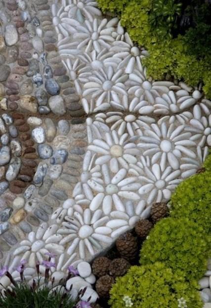 geles is akmenuku mozaika lauke