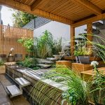 namas terasa augalai